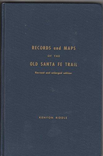 Aufzeichnungen und Karten des alten Santa Fe Trail (Palm Beach Karte)