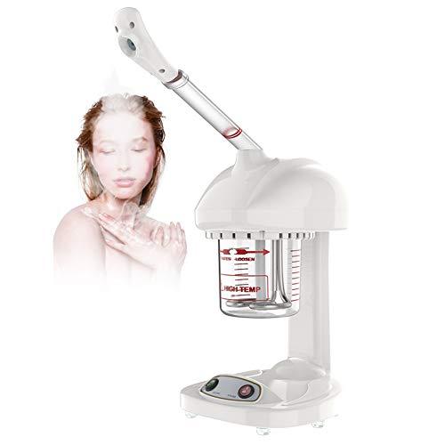 Vapeur Visage Vaporisateur SPA Visage Vapeur Points noirs rosace acné nez bouché Inhalateur pour Huiles Essentielles Nettoyage Traitement