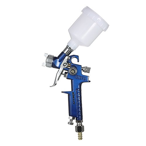 Roeam 0.8mm Mini HVLP Air Spritzpistole Spray Gun Auto Detail Touch Up Sprayer Kit,Schwerkraft Feed Air Brush Set Auto Auto Malerei für Spot Reparatur - Aluminium-palette-cup