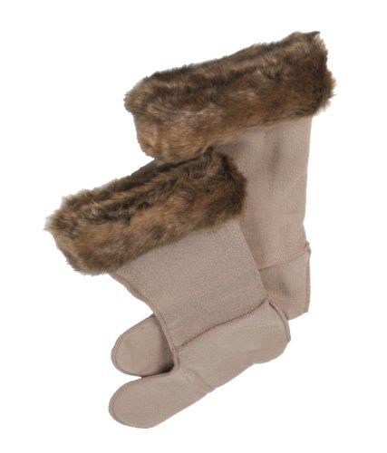 JUST TOGS Innenschuhe für Stiefel, Kunstpelz braun 3-5 UK (Welly Sock Liner)