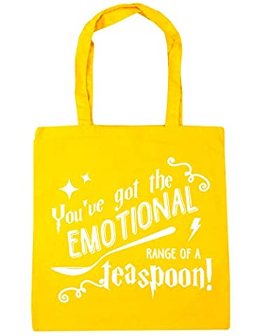HippoWarehouse You've Got The Emotional Range Of A Teaspoon Quote Tote Shopping Gym Beach Bag 42cm x38cm, 10