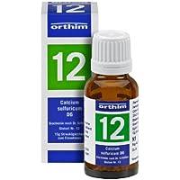 Schuessler Globuli Nr. 12 - Calcium sulfuricum D6 - 15g Globuli - gluten- und laktosefrei preisvergleich bei billige-tabletten.eu