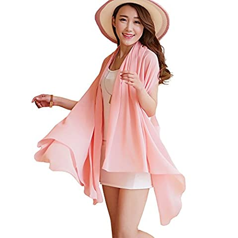 Years Calm Multi-function Magic Chiffon Scarf Pure Color Blouse Summer