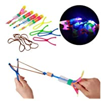 carrykt Led Light Flash Slingshot Arrows Luminous Rocket Slingshot Outdoor Children Toy