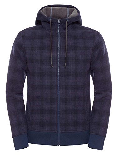 Herren Fleecejacke mit Kapuze Outbound Full Zip Hoodie M cosmic blue plaid
