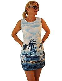 KY's | Robe hawaïenne originale | S - XXL | Vêtements de citrouille | Hawaii Imprimer | Paume Plage Mer | Bleu