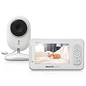 Baby Monitor, Dragon Touch 4.3 Inch Video Baby Monitor with Camera, Infrared Night Version, Support Multi Cameras, Temperature Monitoring, Lullaby, Two-Way Audio and VOX Auto Baby Camera- DT40   2