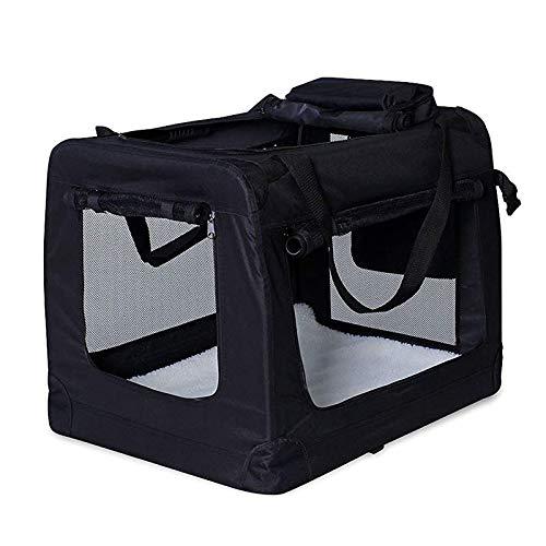 Hundetransportbox Hundetasche Hundebox faltbare Kleintiertasche Farbe Schwarz Größe XXXL