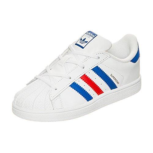 Adidas, Superstar 2 CMF I, Scarpe Per Bambini, Unisex - Bambino bianco / blu / rosso
