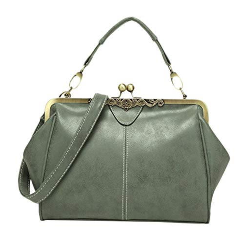 Produp Damenmode Handtasche Schultertasche Peeling Tasche Britische Retro Messenger Bag