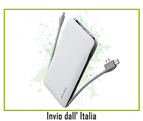 Power Bank ULTRA SLIM da 10000mAh BIANCO compatibile con LG Optimus L3, Optimus L3 II, Optimus L4 II, Optimus L5, Optimus L5 II, Optimus L7, Optimus L7 II, Optimus L9, Optimus Life, Optimus Net,