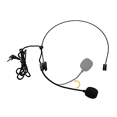 Visork Wired Head Wearing A Headset Back Electret Direction Head Worn Microphone With Bending Type Plug