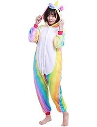 9c0ebd874c iEFiEL Pijama Divertido para Niño Niña Unisex Disfraces de Animal Mono  Pijama con Capacha Invierno Otoño