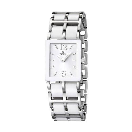 Festina - F16625/1 - Montre Femme - Quartz Analogique - Bracelet Acier Inoxydable Blanc