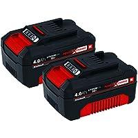 Original Einhell Akku PXC-Twinpack 4,0 Ah Power X-Change (Li-Ion, 18 V, 2x 4,0 Ah, für alle PXC-Geräte geeignet, proaktives Batteriemanagement, situativ angepasste Ladezyklen)
