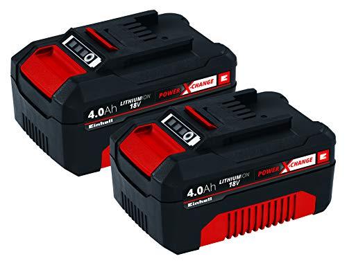 Einhell Akku PXC-Twinpack 4,0 Ah Power X-Change (Li-Ion, 18 V, 2x 4,0 Ah, für alle PXC-Geräte geeignet, proaktives Batteriemanagement, situativ angepasste Ladezyklen)