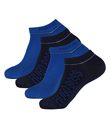 Preisvergleich Produktbild BOSS HUGO Herren Sneaker Socken Kurzsocken AS Design 50308112 4 Paar, Größe:39-42, Artikel:-401 dark blue