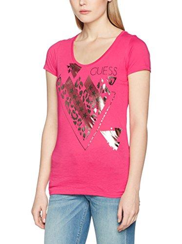 Guess T-Shirt Rn Ss Triangle Mix pink L