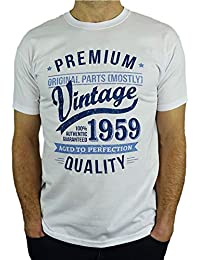 adb6dcb5 1959 Vintage Year - Aged to Perfection - 60th Birthday Gift / Present Mens T -
