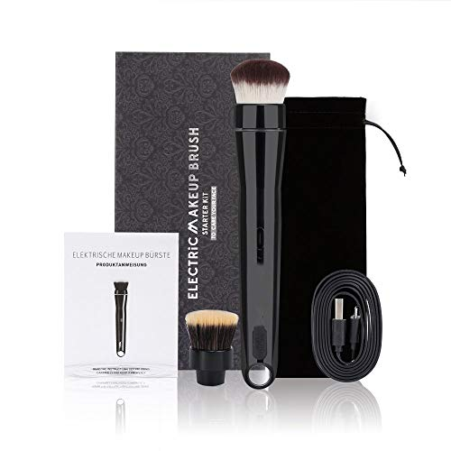 Brosse à maquillage électrique Svivi 2 vitesses, USB rechargeable 360 ° brosse cosmétique rotative.
