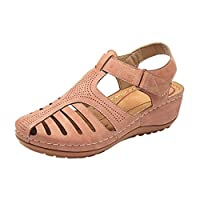 Linkay Sandals Women Girls Summer Comfortable Ankle Hollow Round Toe Sandals Soft Sole Shoes 2019