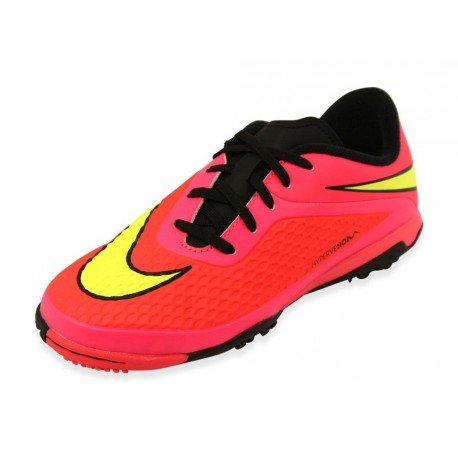 Nike JR Hypervenom Phelon TF Kinder Fussballschuhe bright crimson-volt-hyper punch-black - 36,5