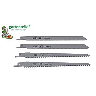 Sägeblatt Set Kunststoff/Metall passend für Gartensäge, Astäge gartenteile AAS 1080 zum Sägen von Kunststoff und Metall (4 St.)
