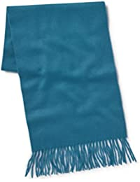 Savile Row Men's Teal Blue Cashmere Scarf in Gift Box
