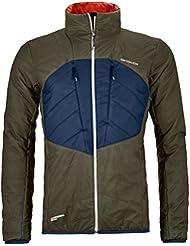 Ortovox swisswool Light Pure Dufour Jacket M olivo, color verde oliva, tamaño medium