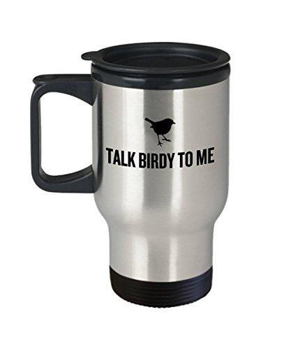 Divertida taza de viaje para observación de aves, regalo para pájaros, regalo divertido para ornitólogo, charla de regalo, pájaro para mí