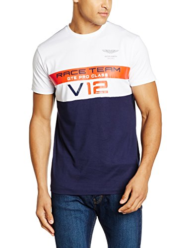 hackett-london-herren-t-shirt-amr-race-team-t-bianco-white-navy-xl