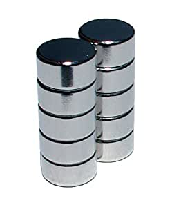 Lot de 10 aimants néodymes pour tableau blanc magnétique
