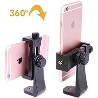 Ulanzi support trépied/Vertical Bracket Support pour smartphone/téléphone Clip Clipper adaptateur pour trépied pour iPhone Samsung Smart Phones 2–1/4–3–5/20,3cm Large (adaptateur de support)