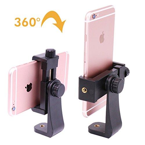 Ulanzi treppiede verticale staffa supporto per smartphone/tablet/telefono clip Clipper compatibile per iPhone Samsung Smart 2-1/4-3-5/20,3cm Wide (adattatore di montaggio)