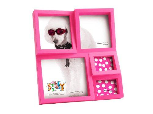 Bilderrahmen Fotoalbum Fotohalter Wandcollage Collage Hochformat Querformat mit Aufsteller pink