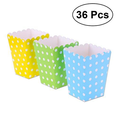 TOYMYTOY Popcorn Tüten,Popcorn-Boxen,Süßigkeitenbehälter Papierschachteln für Film-Party-Bevorzugungen,36pcs(Farbe 1)
