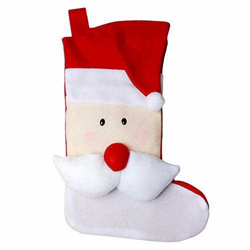 pygex (TM)–Large–Calza di Natale Babbo Natale cervo regalo di natale Candy Bag interno Natale decorazione albero di Natale calze strap Santa Claus Santa Claus