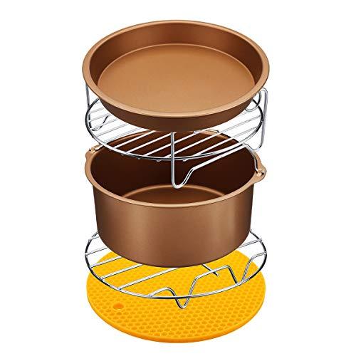TuToy 6Pcs Antihaftluftzug-Zubehör Set 7 Zoll Cake Pizza Bbq Braten Backwerkzeuge Für 3.2-5.8Qt