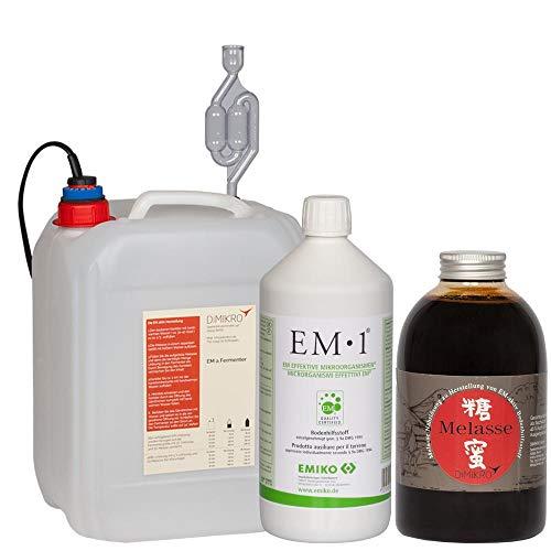 Fachhandel Effektive Mikroorganismen Fermenter-Einsteigerset mit EM1 Urlösung Emiko® (5L)