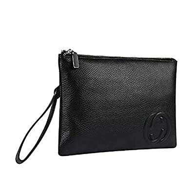 Clutches Purse Genuine Cowhide Leather Oversized Evening Pruse Women Crossbody Large Capacity Wristlet Wallet with 8 Card Slots for Business and Evening