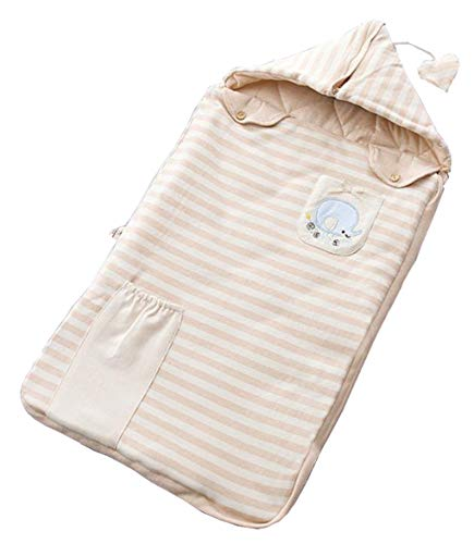 Lm sacco nanna per neonati, sacco a pelo in cotone per neonati, anti-kick per bambini, abbraccio in cotone colorato è una stampa carina (1-12 mesi),elephant