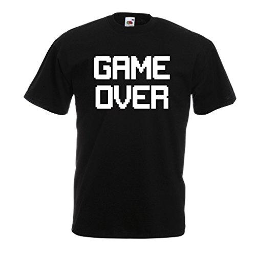 Männer T-Shirt Spiel über lustige Gamergeschenke Schwarz Weiß