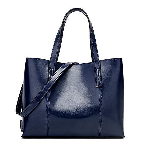 Borsa donna zaino donna borsa tracolla borsetta multifunzione sacchetto grande borse a spalla per lavoro shopping viaggio secchio tipo tote vintage borsa da donna speciale in poliuretano portatile blu