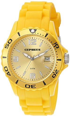CEPHEUS Damen-Armbanduhr Analog Quarz Silikon CP603-090C