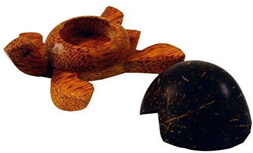 Pequeño Cenicero de Madera en Forma de Tortugas, Madera de coco