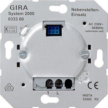 Gira Nebenstelle 033300 Einsatz S2000 (2-draht) -