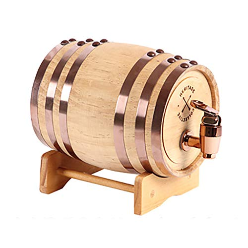 Dispensador De Barriles De Whisky 3l, Barriles De Crianza En Roble, Barril De Whisky Casero para Cubos De Vino, para Vino, Licores, Cerveza Y Licor Blanco