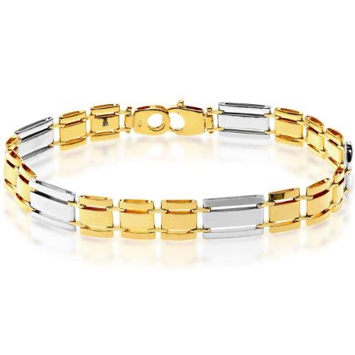 Citerna Damen-Armband Sterling Silber Gold plattiert 20,5 cm SBT1412