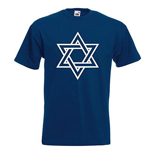 9f5871bbd1568 KIWISTAR - Davidstern Judentum T-Shirt in 15 verschiedenen Farben - Herren  Funshirt bedruckt Design