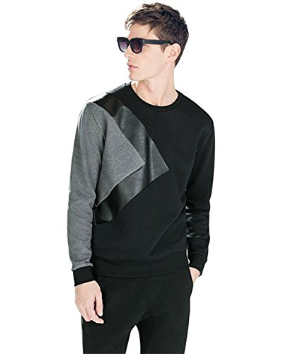 LEWEL Men's Cotton Round Neck Full Sleeve T-Shirt, Medium (Multicolour, LEWEL11M)